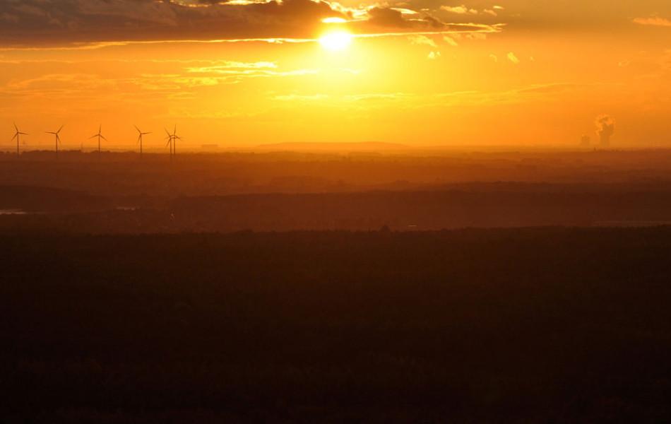 Sonnenuntergang am Collmberg b. Oschatz