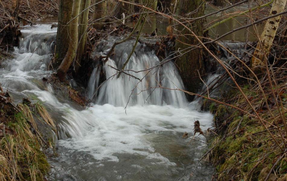 Wasserfall eines Baches
